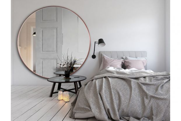 Scandi Slim - duże, okrągłe lustro w cienkiej ramce/GieraDesign
