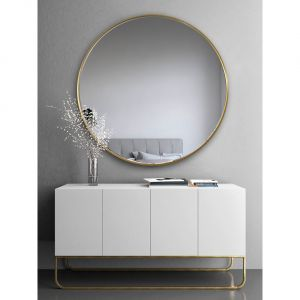 Scandi Slim - duże, okrągłe lustro w cienkiej ramce/GieraDesign. Produkt zgłoszony do konkursu Dobry Design 2019.