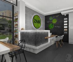 Projekt showroomu  marki ZAAR - Bielsko-Biała. Projekt i wizualizacje: Zuzanna Antkiewicz-Wydra (DIZU Studio Projektowe)