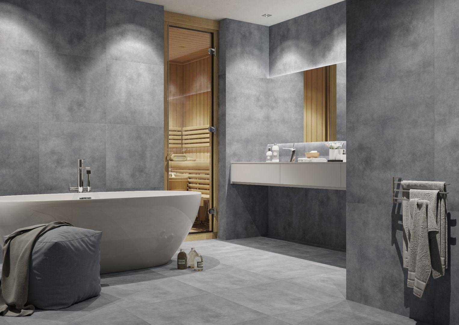 Nowoczesna łazienka total look - wybieramy kolor. Kolekcja batista steel. Fot. Cerrad