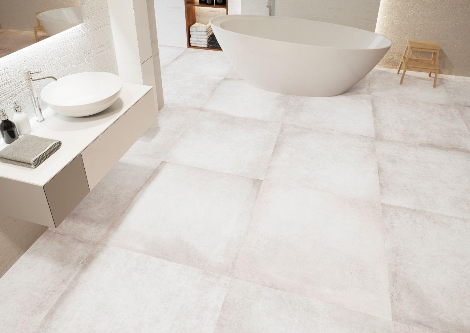 Nowoczesna łazienka total look - wybieramy kolor. Kolekcja lukka bianco. Fot. Cerrad