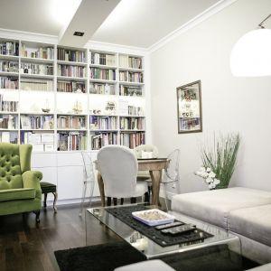 Sposoby na przechowywanie w małym mieszkaniu. Projekt: arch. Dorota Maksymowicz. Fot. The Space