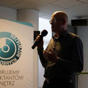 Studio Dobrych Rozwiązań w Warszawie 26 września 2018. Marcin Szeląg z firmy Ecomax