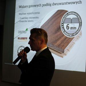 Studio Dobrych Rozwiązań w Warszawie 26 września 2018. Sebastian Sklepik z firmy Jawor Parkiet