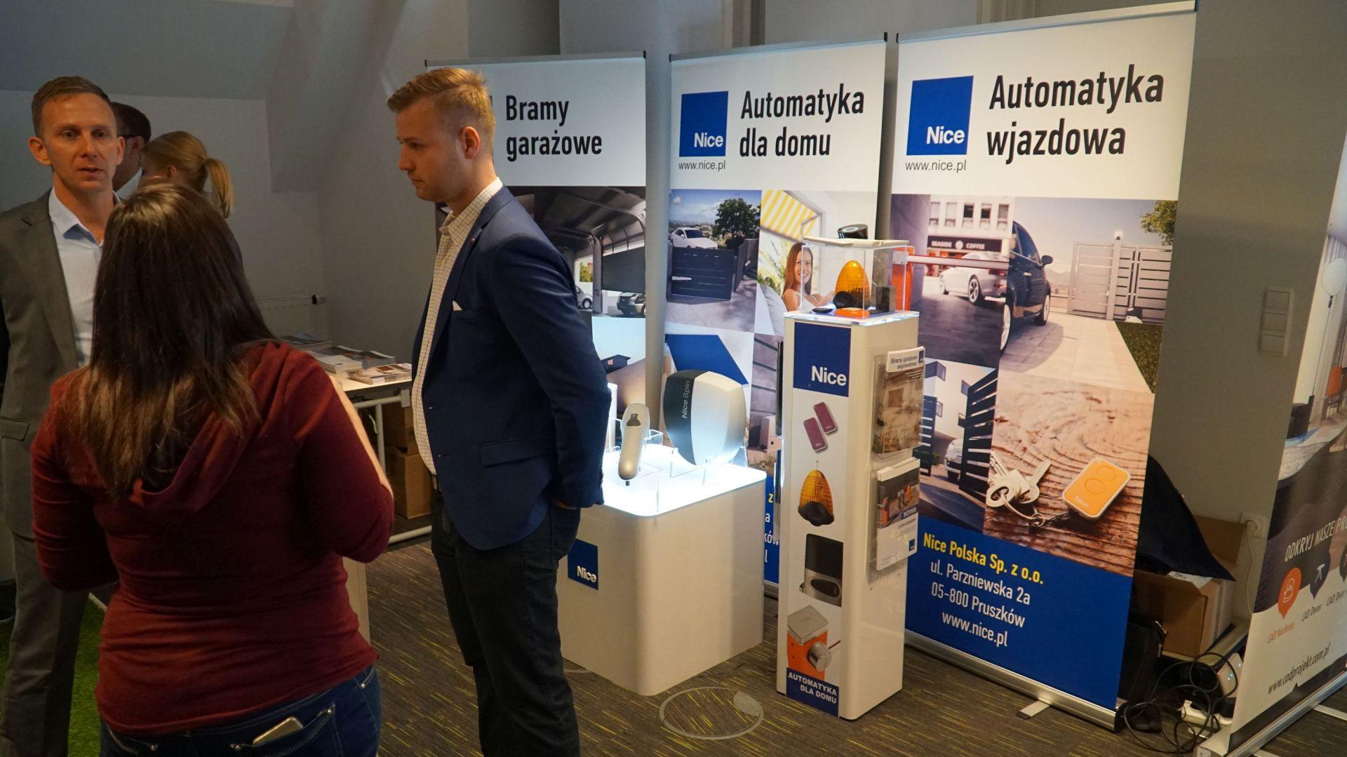 Studio Dobrych Rozwiązań w Warszawie 26 września 2018. Stoisko firmy Nice