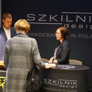 Studio Dobrych Rozwiązań w Warszawie 26 września 2018. Stoisko firmy Szkilnik Design