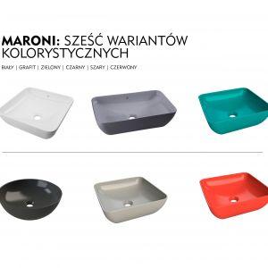 Umywalka nablatowa Maroni/Armatura Kraków. Produkt zgłoszony do konkursu Dobry Design 2019.