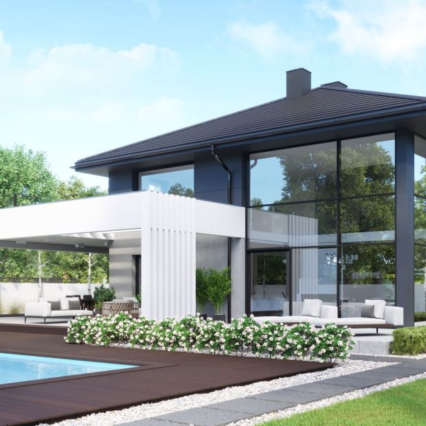 Nowoczesna willa - zobacz piękny dom i wnętrza