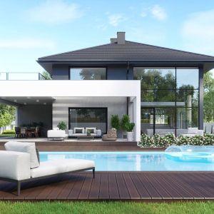 HomeKONCEPT 60 to wyjątkowa willa, która zachwyca atrakcyjnym wyglądem, wyróżnia się nowoczesnymi rozwiązaniami architektonicznymi oraz zapewni komfort każdemu domownikowi. Opracowanie projektu i zdjęcia: Pracownia HomeKONCEPT