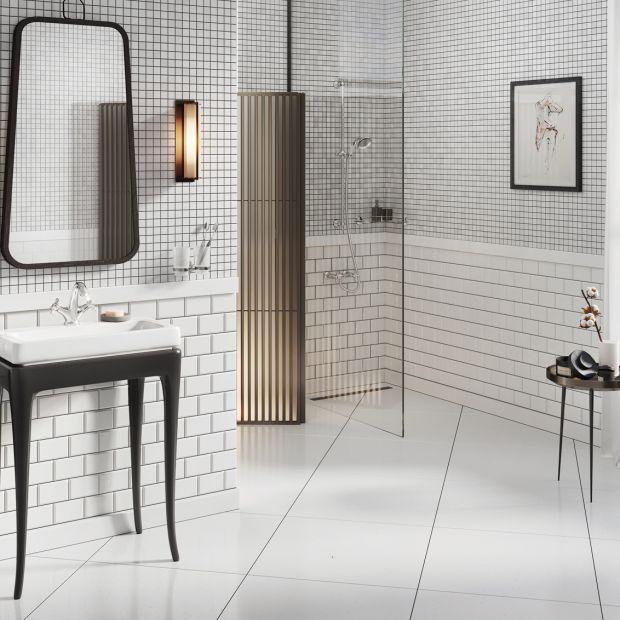 Retro w nowoczesnej łazience - pomysły na aranżację