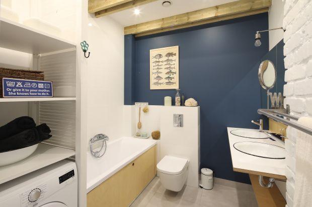 Mała łazienka w wakacyjnym klimacie - zobacz gotowy projekt