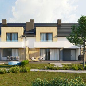 Domy w zabudowie bliźniaczej umożliwiają maksymalne wykorzystanie nawet wąskiej i niewielkiej parceli o szerokości mniejszej niż 16 m. Projekt i wizualizacja: HomeKONCEPT