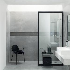 Wielkoformatowe gresy z kolekcji Epoxy marki Monolith wiernie odzwierciedlają fakturę i koloru betonu. Dostępne w wykończeniu polerowanym i matowym oraz wielu rozmiarach. Fot. Tubądzin