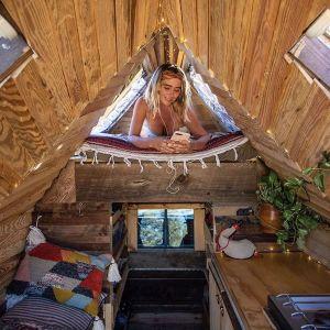 Mała kabina została tak zaprojektowana, aby zapewnić odpowiedni komfort życia podczas podróży. Fot. Jacob Witzling