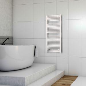 Nowoczesna łazienka - grzejnik Saturn. Fot. Luxrad