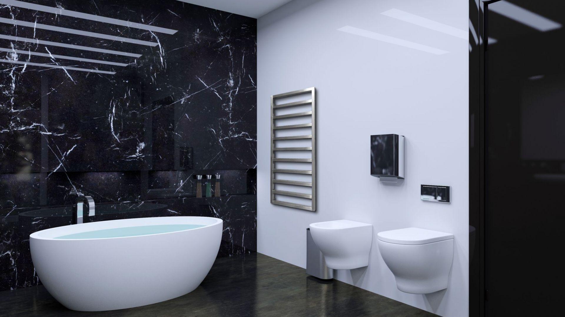 Nowoczesna łazienka - grzejnik Atria. Fot. Luxrad