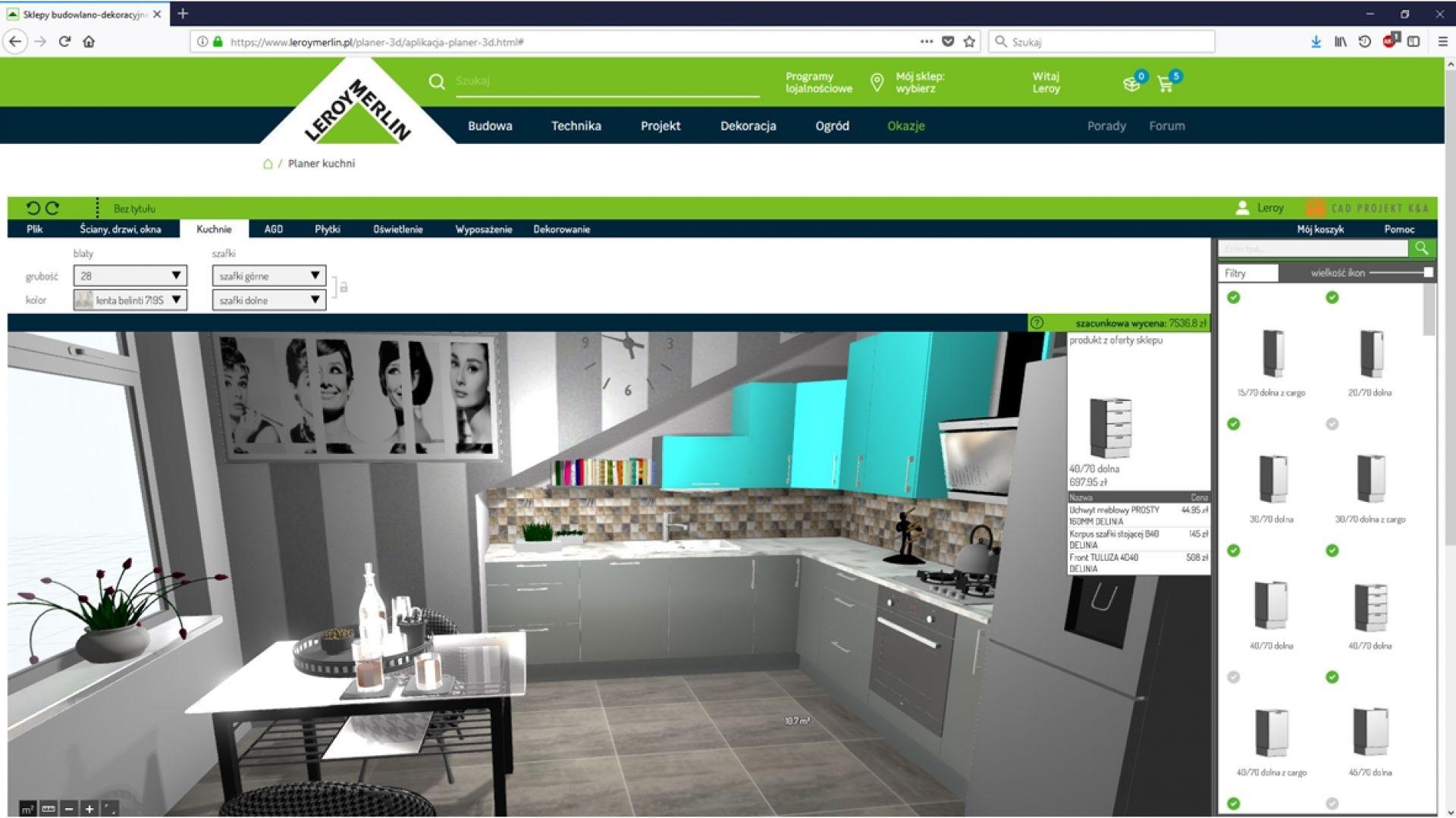 Leroy Merlin Planer 3D/CAD Projekt K&A. Produkt zgłoszony do konkursu Dobry Design 2019.
