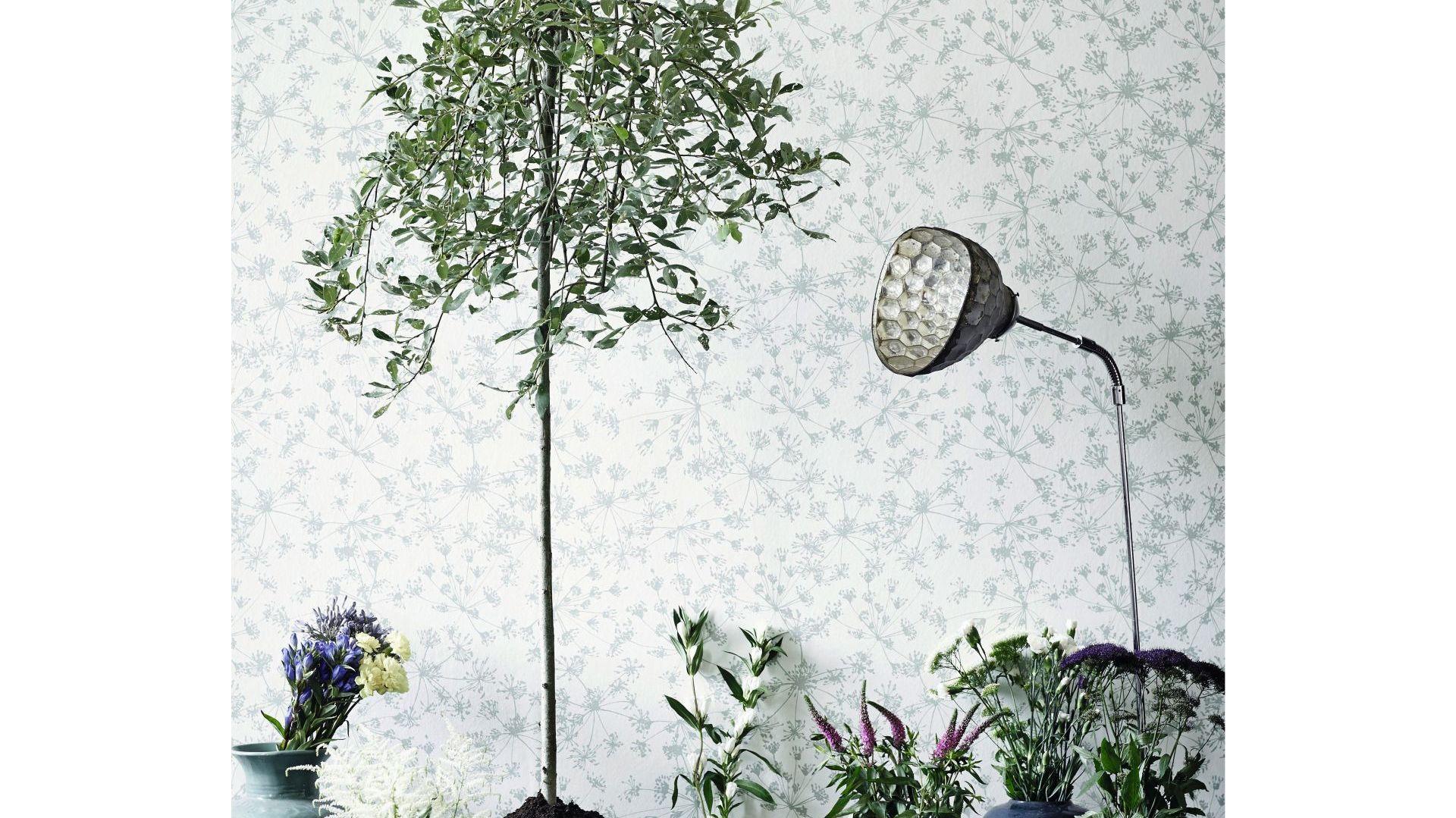Inspiracją do powstania kolekcji był spacer po ogrodzie botanicznym w Kopenhadze. Wzory przedstawiają roślinne elementy w nowej odsłonie, a nacisk położono na zachowanie efektu rysunku odręcznego. W skład kolekcji wchodzi 7 wzorów w przeróżnych kolorystykach: Butterflies, Willow, Eucalyptus, Botanica, Pansyl Flower, Parsley i Birch Leaves. Fot. Flügger