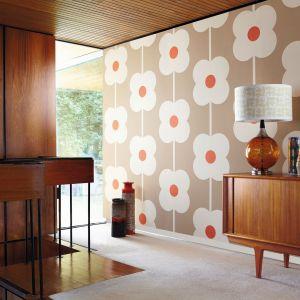 Kolekcja tapet w stylu retro HARLEQUIN ORLA KIELY stworzone przez światowej sławy projektantkę Orlę, której miłość do lat 50. stała się synonimem inspirującego wzornictwa. Na zdjęciu wzór Giant Abacus. Fot. Harlequin