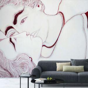Tapeta Senza Titolo z kolekcji, której autorką jest projektantka Sofia Cacciapaglia. Przeskalowany wzór doda wnętrzu rozmachu. Na zamówienie, Wallpaper