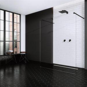 Kabina prysznicowa typu walk-in Modo New Black I z czarnymi profilami. Fot. Radaway
