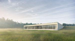 Kluczowym elementem tego nietuzinkowego domu jest dach i to on ma przyciągać uwagę. Tworząc projekt budynku architekci pracowni 81.waw.pl postawili na zachowanie naturalnego uformowania terenu. Wykorzystali łąkę jako piątą elewację budynku.
