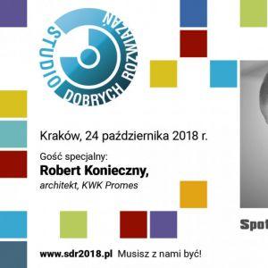 Robert Konieczny będzie gościem specjalnym SDR w Krakowie