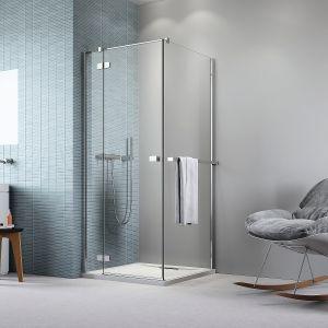 Dzięki montowanemu bezpośrednio na kabinie prysznicowej wieszakowi, ręcznik zawsze będzie pod ręką. Szerokość 300-1000 mm. Wykończenie chrom i chrome+. Cena: 199 zł/chrom, 259 zł/ chrome+. Fot. Radaway