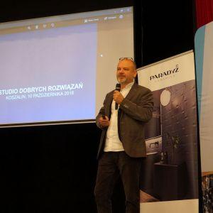Gościem specjalnym Studia Dobrych Rozwiązań w Koszalinie był architekt Dariusz Herman
