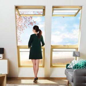 Okno dachowe uchylno-obrotowe FPP-V preSelect2/FAKRO. Produkt zgłoszony do konkursu Dobry Design 2019.