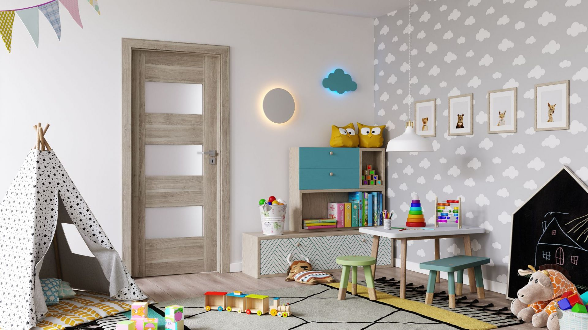 Aranżacja pokoju dziecka. Drzwi Porta Koncept. Fot. Porta
