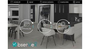 Dzięki aplikacja obserVeR możesz przeprowadzić wirtualny spacer po zaprojektowanym wnętrzu w technice real time. Produkt zgłoszony do konkursu Dobry Design 2019.