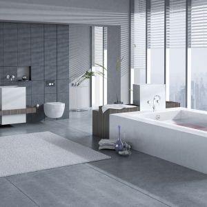 Toaleta JomoTech Hygienic z funkcją bidetu oraz stelaż podtynkowy w zestawie. Fot. Werit