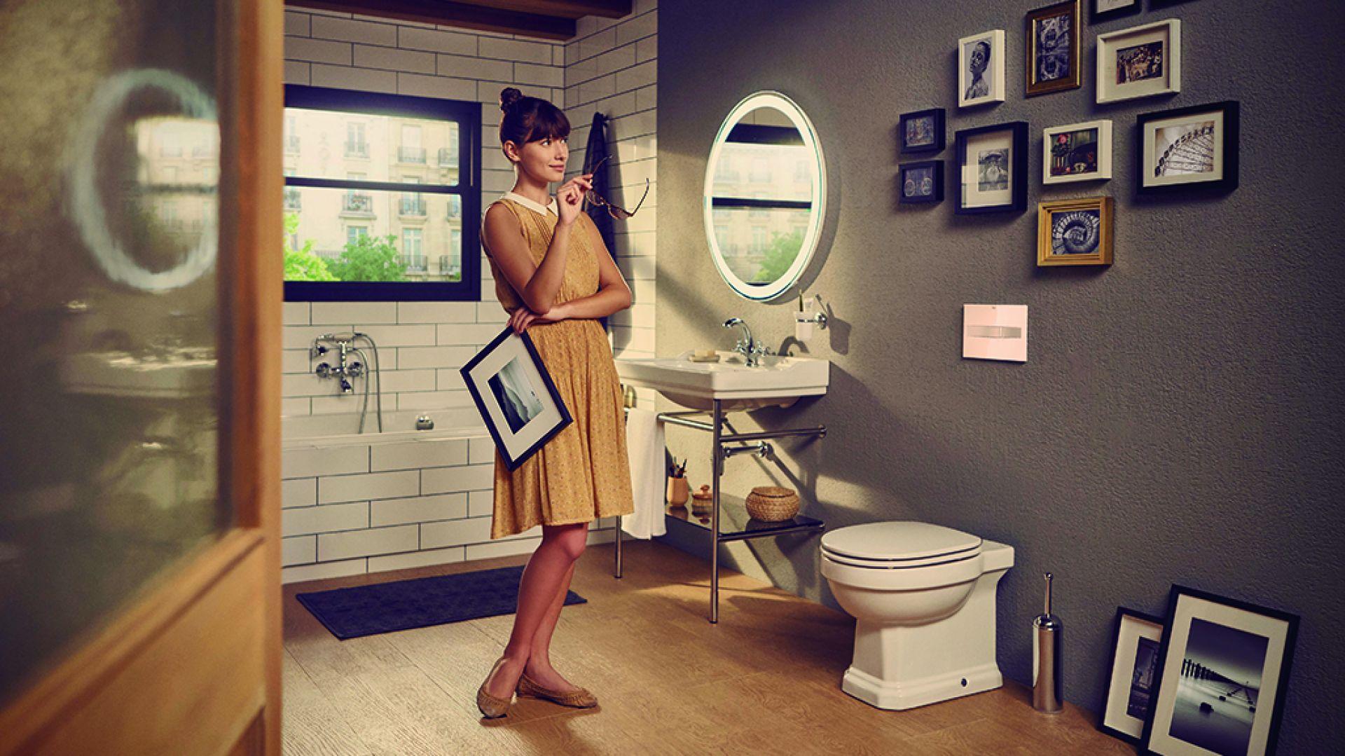 Kolekcja Carmen do łazienki w stylistyce vintage. Fot. Roca