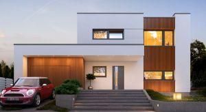 Nowik to nowoczesny, piętrowy dom jednorodzinny z garażem. Projekt o powierzchni użytkowej 155 metrów kwadratowych pozwoli na komfortowe zamieszkanie współczesnej rodzinie.