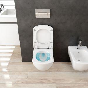 Bezrantowa miska w.c. Anemon Zero została zaprojektowana tak, aby można ją było skutecznie spłukać mniejszą ilością wody. Fot. Deante