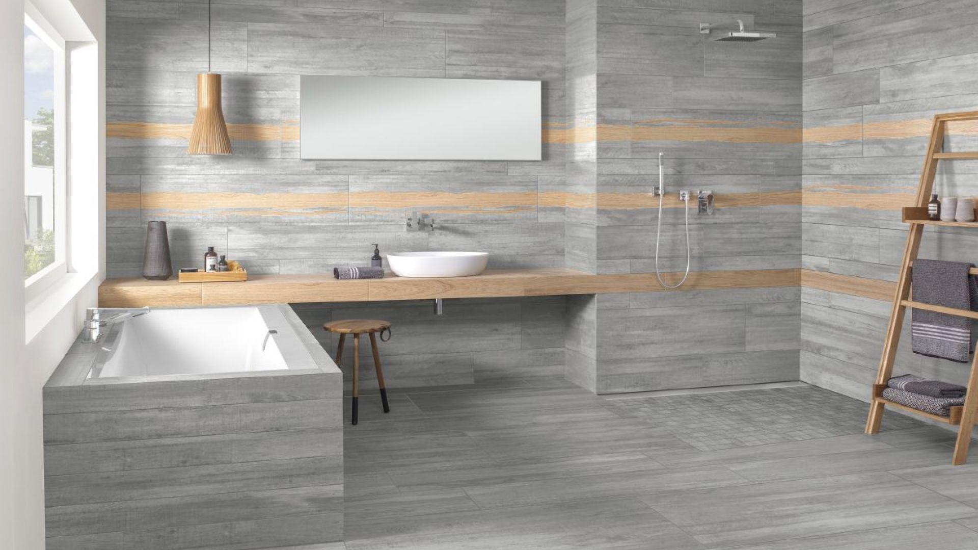 W łazienkach będą dominowały szarości, czasami przeplecione beżem. Fot. Villeroy & Boch