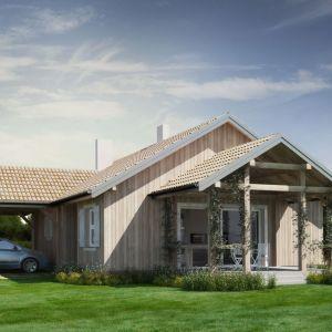 Dom drewniany. Projekt arch. Sylwia Strzelecka