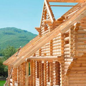 Konstrukcja domu z bala wykorzystuje tradycyjne rozwiązania ciesielskie, jak węgły i oczepy. Fot. Shutterstock