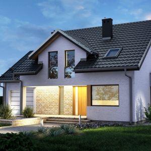 Dach dwuspadowy, blachodachówka Germania Simetric. Fot. Blachotrapez