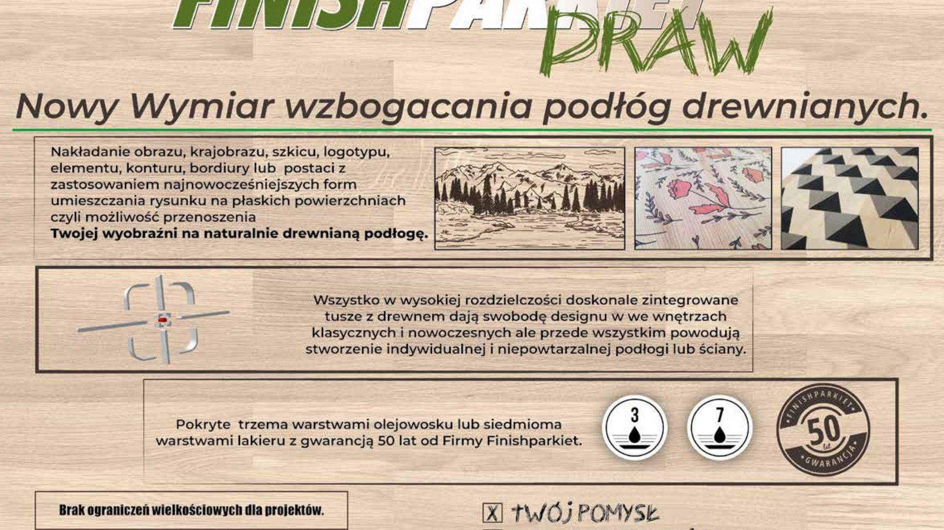Finishparkiet DRAW/Finishparkiet. Produkt zgłoszony do konkursu Dobry Design 2019.