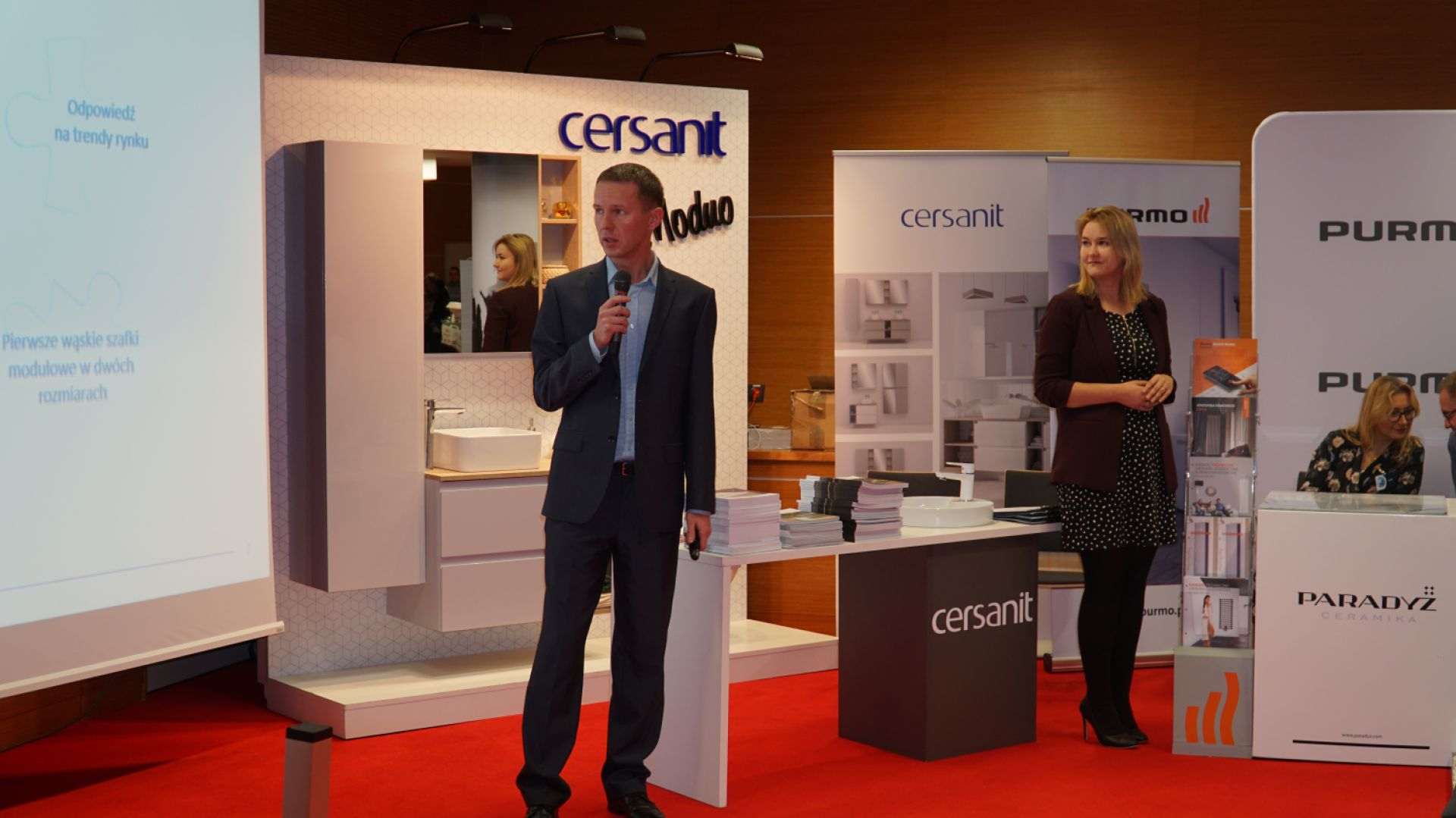 Prezentacja Konrada Zalewskiego i Moniki Wróblewskiej z firmy Cersanit
