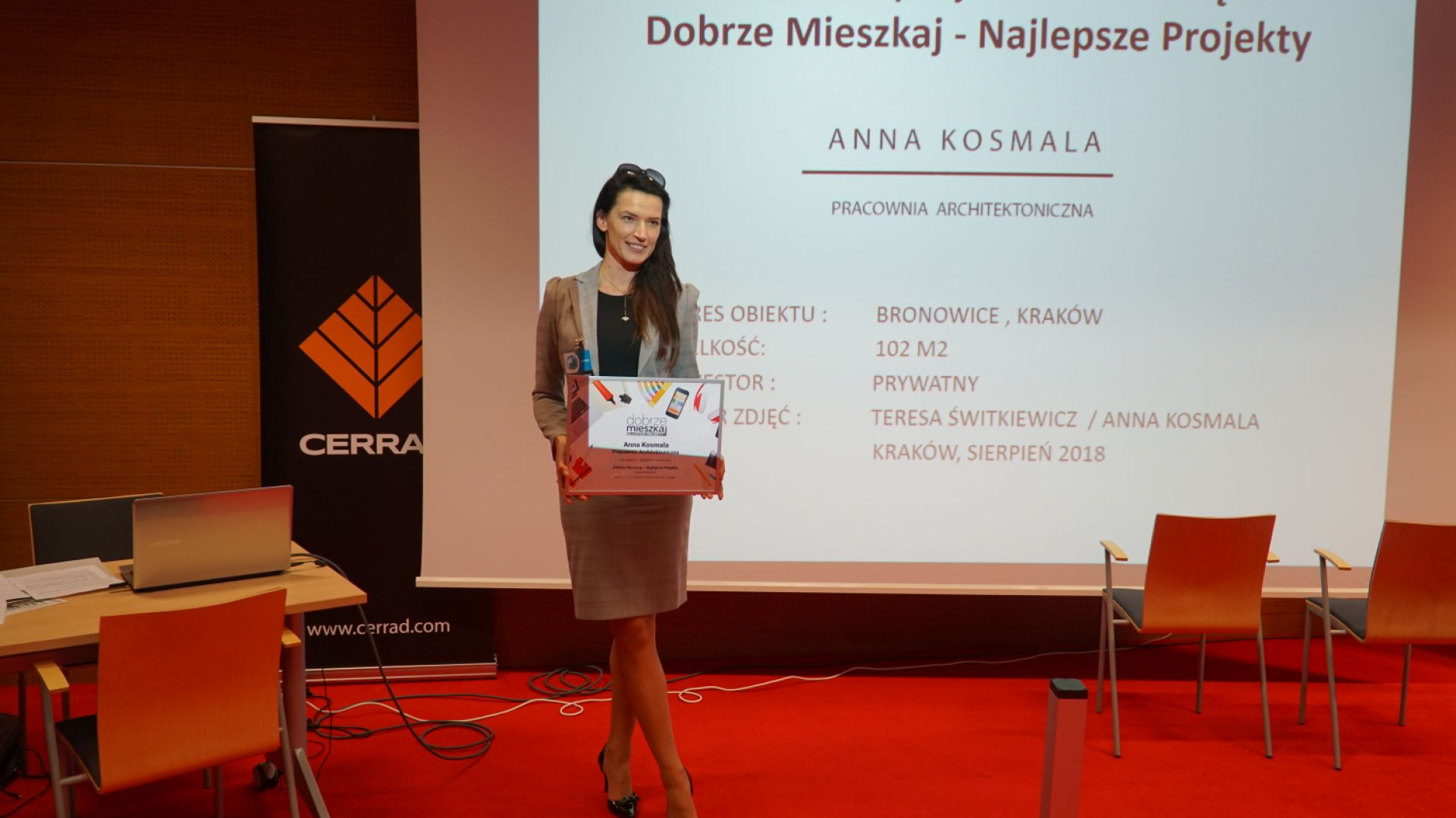 Anna Kosmala, nagroda w konkursie Dobrze Mieszkaj - Najlepsze Projekty