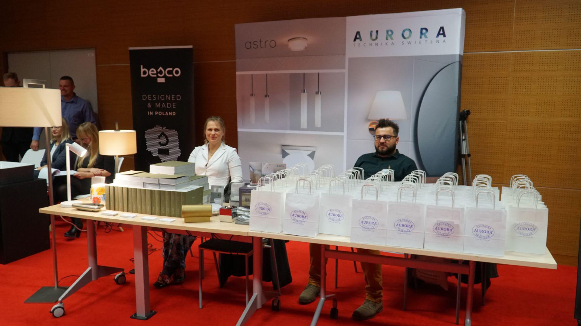 Stoisko firmy Aurora Technika Świetlna