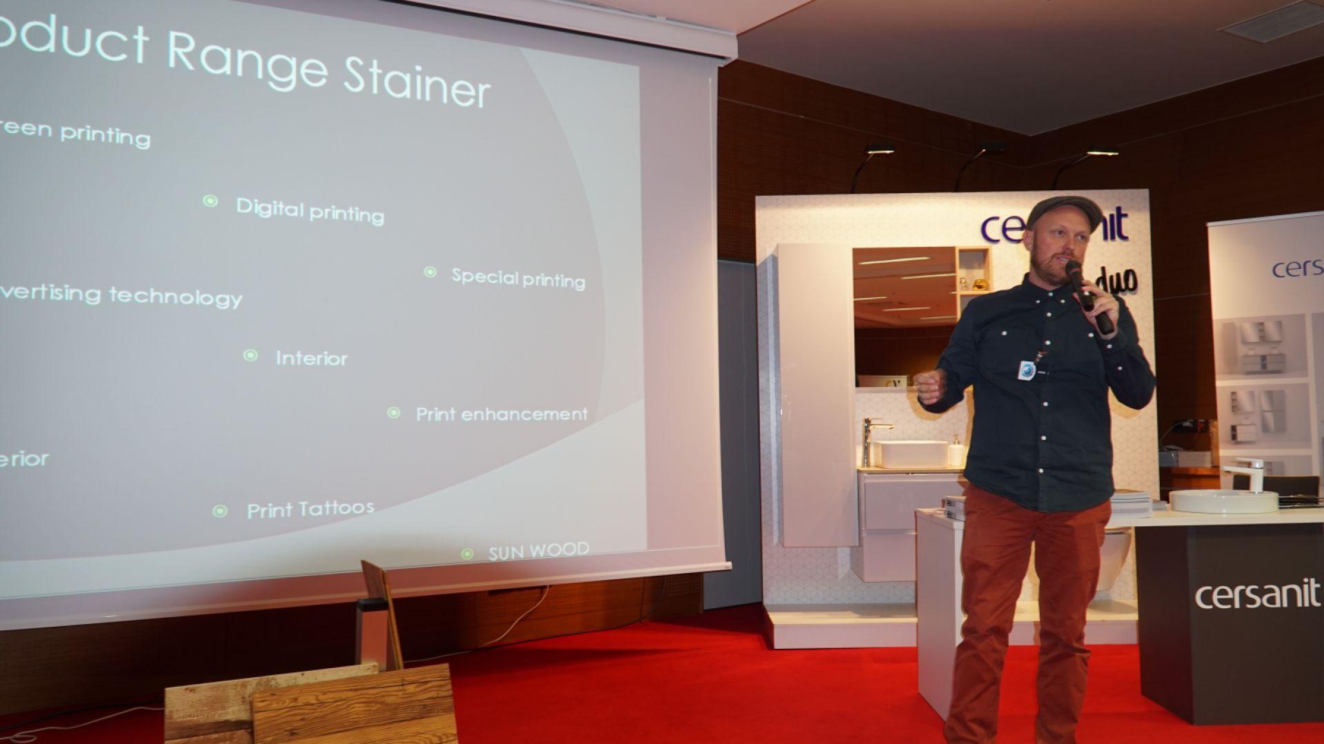 Tom Lackner z firmy Sunwood Steiner, CDO Centrum Drewna i Oklein
