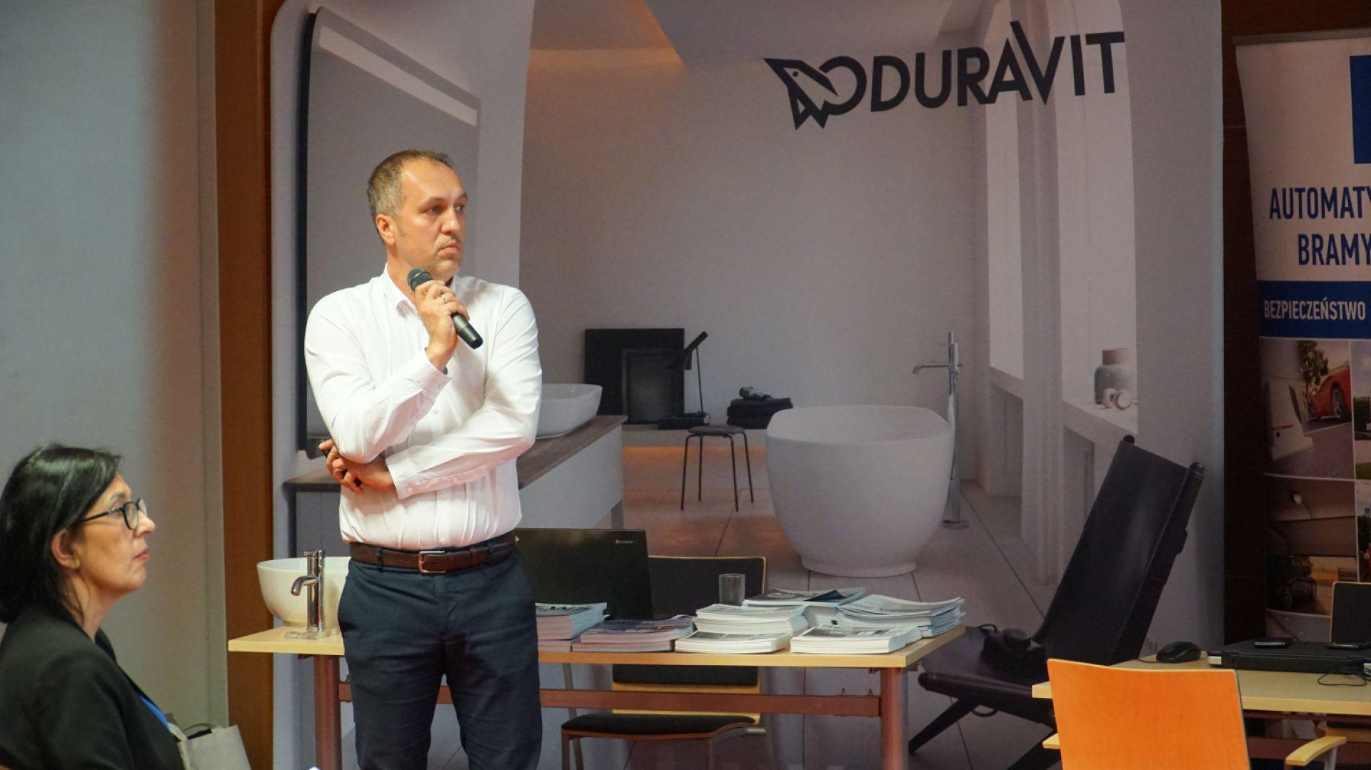 Wystąpienie Tomasza Maślanki z firmy Duravit