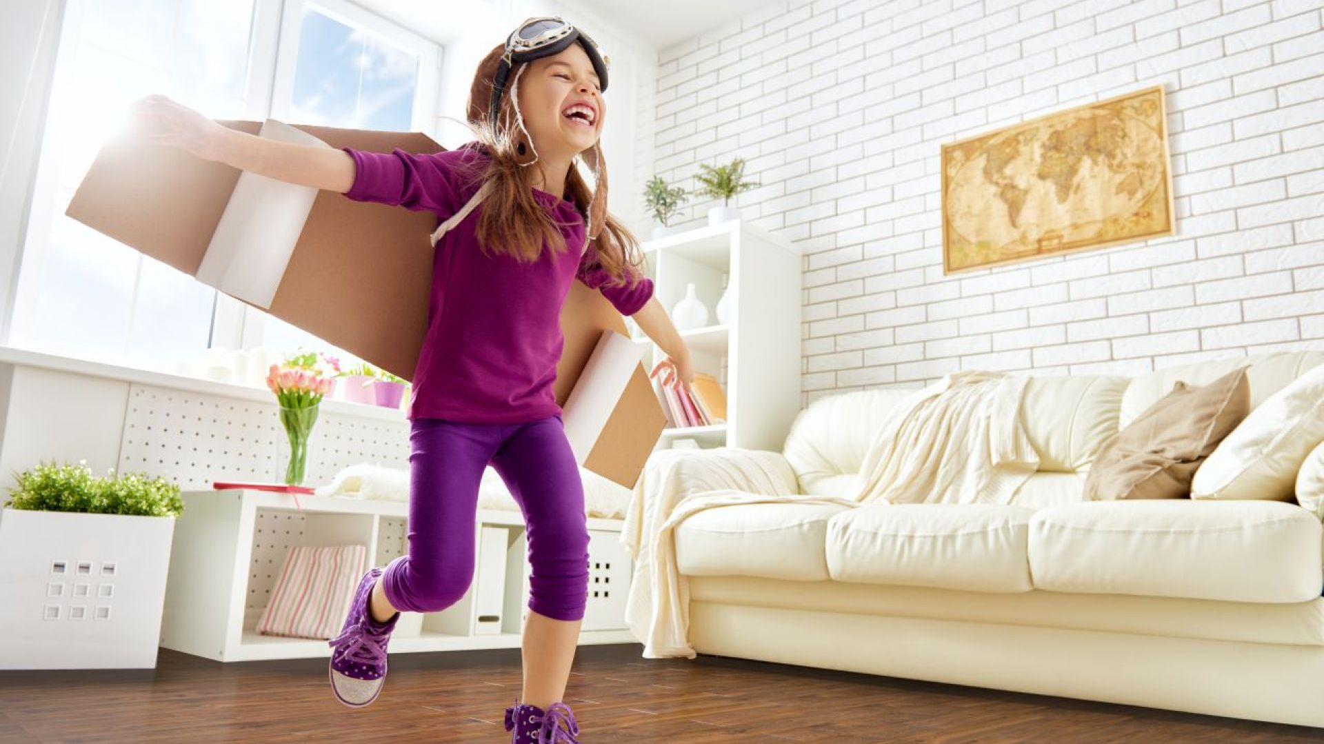 Mieszkanie urządzone z myślą o najmłodszych. Podłoga Extreme 4V Dąb Anaco. Fot. RuckZuck