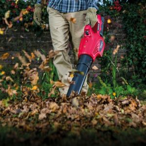 Sprzątanie liści jesienią akumulatorowa dmuchawa Honda HHBE 81 BE. Fot. Honda