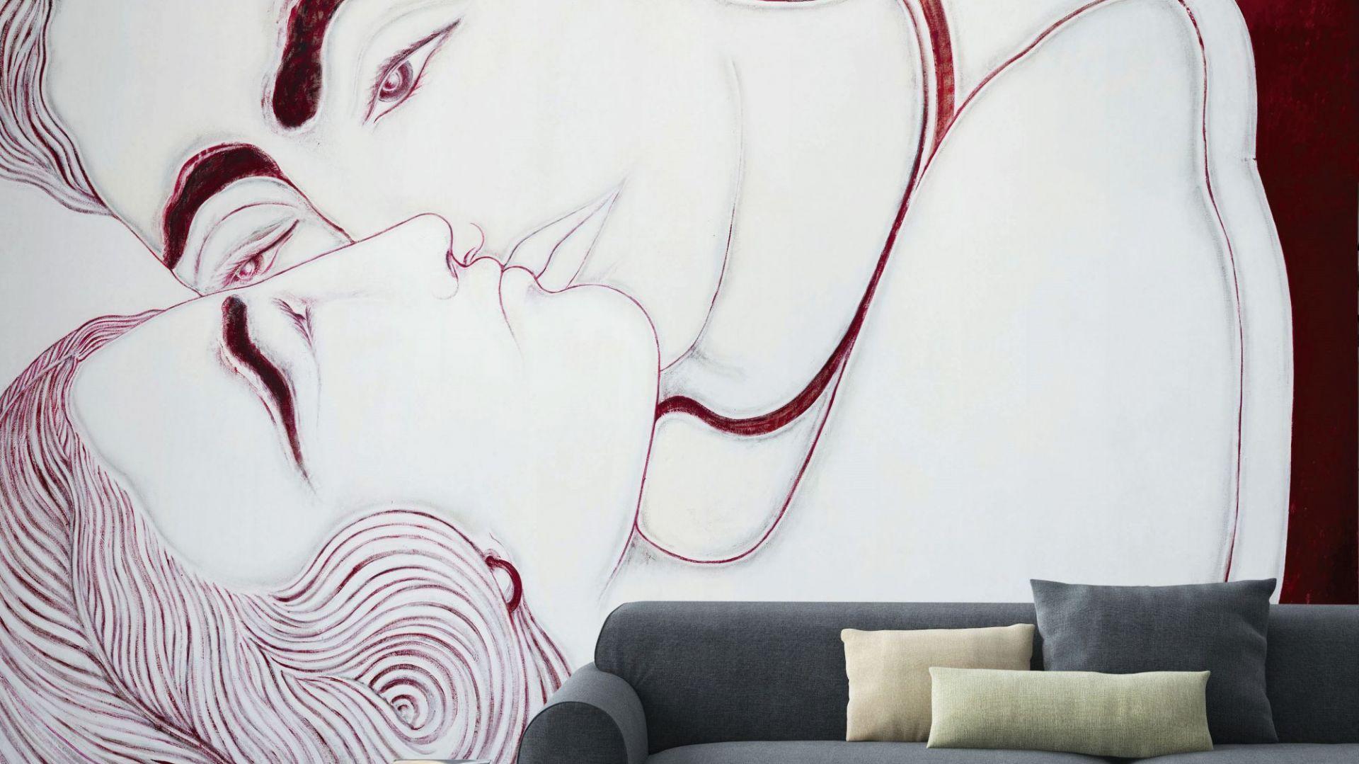 Tapeta Senza Titolo z kolekcji, której autorką jest projektantka Sofia Cacciapaglia. Przeskalowany wzór doda wnętrzu rozmachu. Na zamówienie. Fot. Wallpaper
