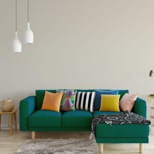 Let's shine Primacol Decorative to dekoracyjna farba lateksowa o matowym aspekcie. Do każdego opakowania farby dołączona jest torebka z brokatem, który po wymieszaniu z zawartością sprawia, że dekorowana ściana połyskuje w świetle. Fot. Primacol Decorative